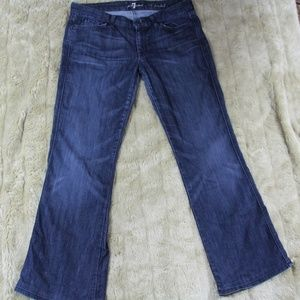 7FAM A Pocket boot cut jean, EUC